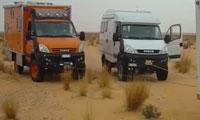 越野猛兽 意大利依维柯越野房车车队穿越沙漠 勇闯大漠