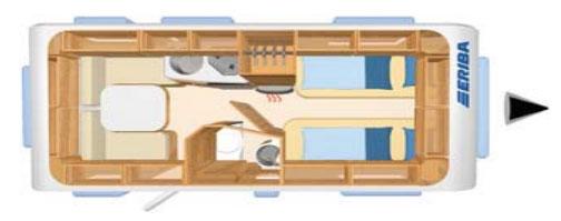 海姆菲灵470 房车平面图