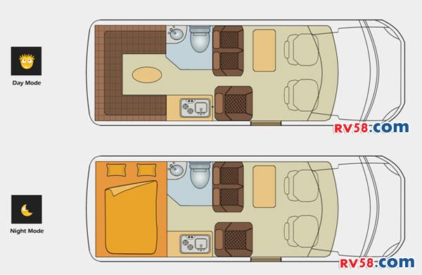 诺优进口依维柯B 商旅型B平面图