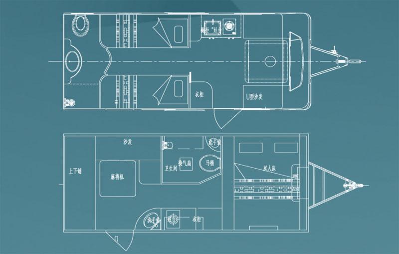 齐星6米营地房车平面图