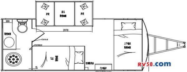 嵘野5.6米上下床营地版平面图