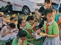 """都江堰20余名学生带着""""友善关爱""""尽享房车户外森林时光"""