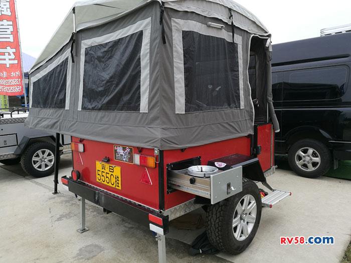 风行全铝拖挂旅居车外置炉具