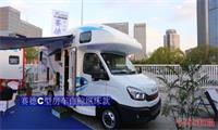 赛德C型房车白鲸系列纵置子母床款,额头是专利,外置厨房是独家
