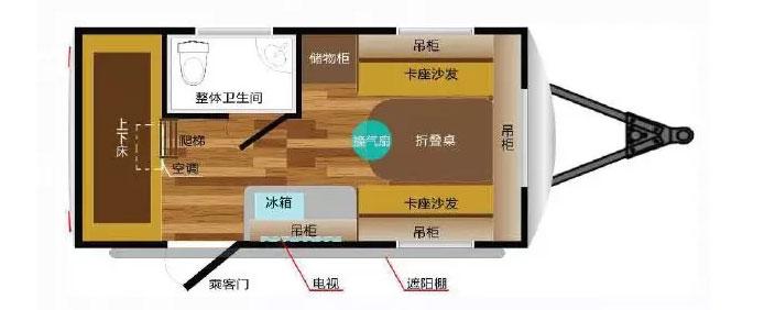 爱旅拖挂AL420(停售)平面图